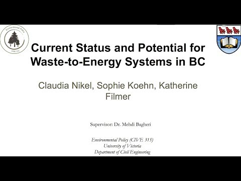 Current Status and Potential for Waste-to-Energy Systems in British Columbia