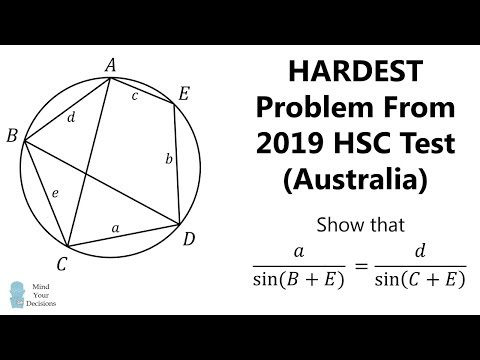Can You Solve The Hardest Problem From The 2019 HSC?
