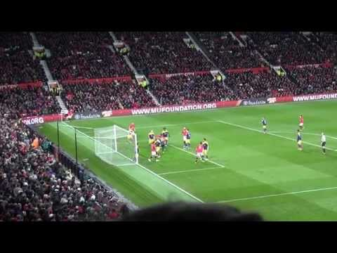 Superb Fan Footage of the Match Highlights Manchester United 1 - Swansea City 2 F.A. Cup 5.1.14