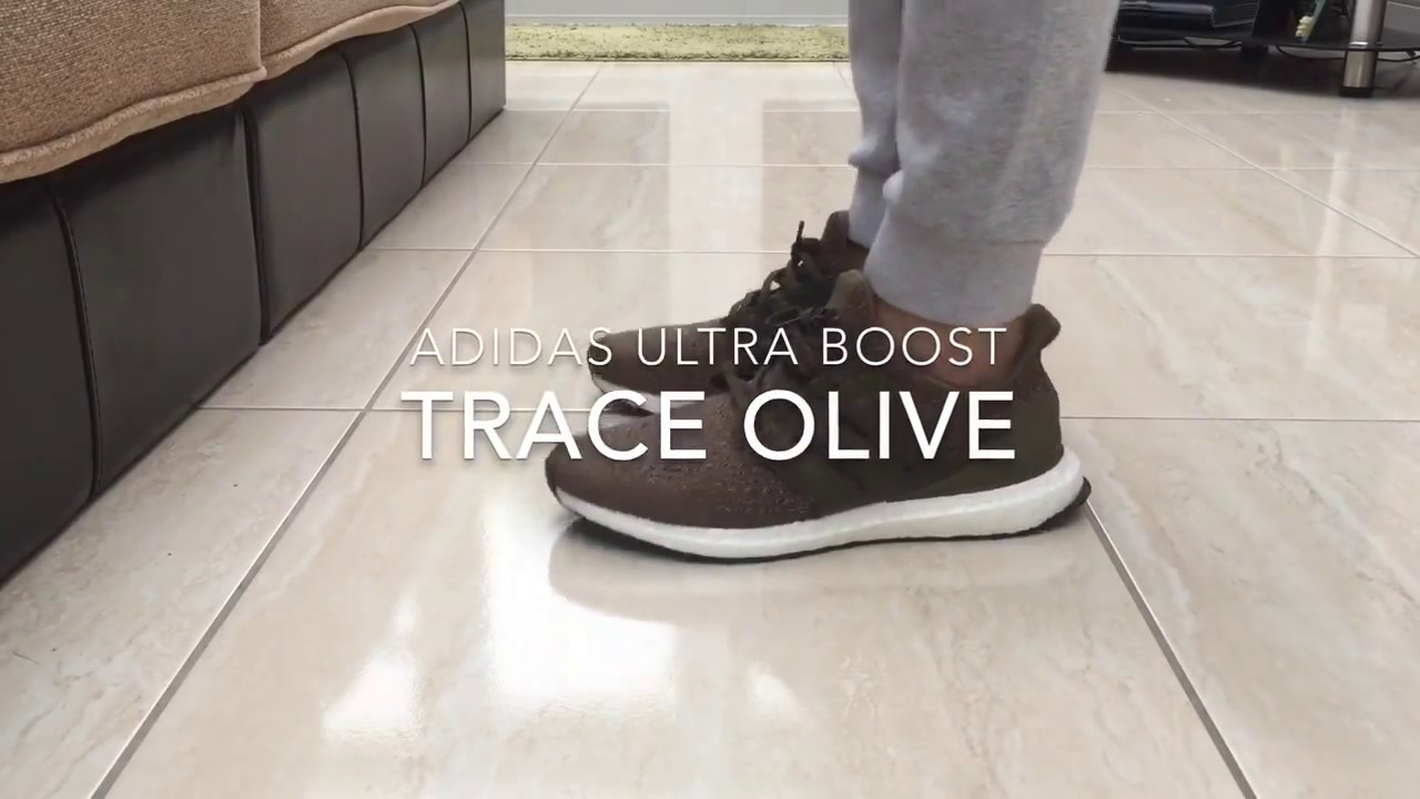 8f844be3c21a Adidas Ultra Boost 3.0 - Trace Olive - Quick ON Feet - YouTube