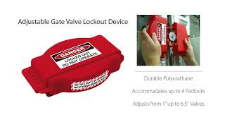 Adjustable Gate Valve Lockout Device