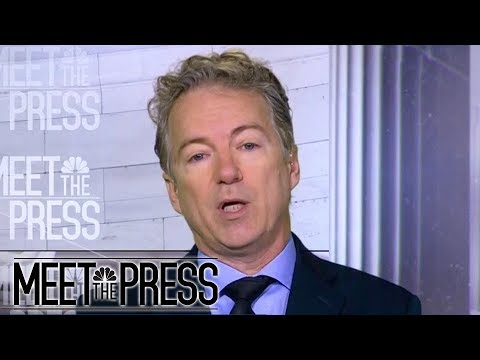Rand Paul: Calling Donald Trump 'Racist' Hurts Immigration Negotiations | Meet The Press | NBC News
