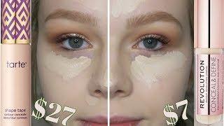 Is It A Dupe? | Tarte Shape Tape Fair vs Makeup Revolution Conceal & Define C1