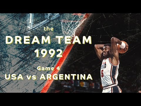 "Dream Team 1992: ""Return to Olympus""/ Game 4/ USA vs ARGENTINA/ FULL GAME HIGHLIGHTS"