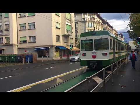 Trains à Lucens ainsi que voie métrique et étroite - 2017 - Transports Publics Suisses