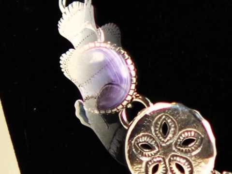 Native American Necklace - Wampum and silver jewelry fish necklace
