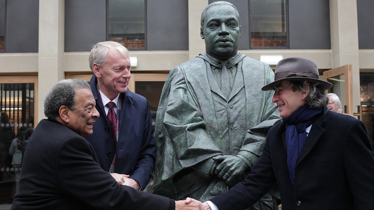 Dr Martin Luther King Jr Statue Unveiled In Newcastle University's King's Quad