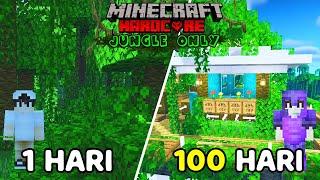 100 Hari Di Minecraft Hardcore Tapi Jungle Only!