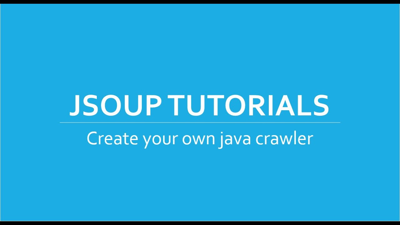 Web Crawler/Scraper in Java using Jsoup Tutorials # 2 | Connecting and  Reading from HTML