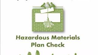 Hazardous Materials Plan Check