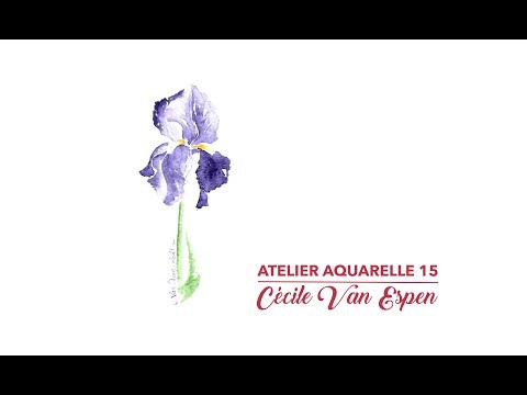 Atelier Aquarelle 15 : Iris