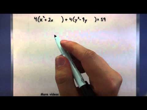 Pre-Calculus Complete the square for a circle