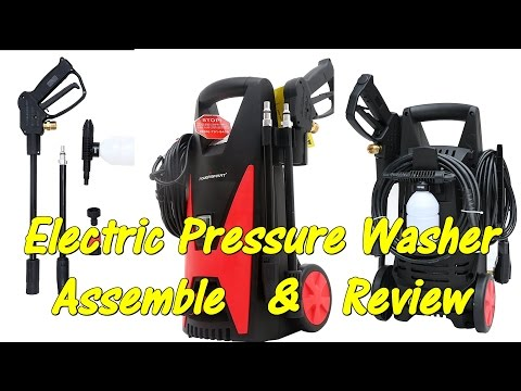 REVIEW PowerSmart PS22 Electric Pressure Washer. Unbox - Assemble & Demo