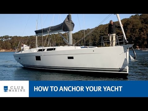 How to anchor your yacht