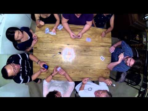 SPOONS The card game - View from overhead.  FUN for any age