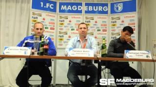 Pressekonferenz - 1. FC Magdeburg gegen VfB Lübeck 0:2 (0:1) - www.sportfotos-md.de