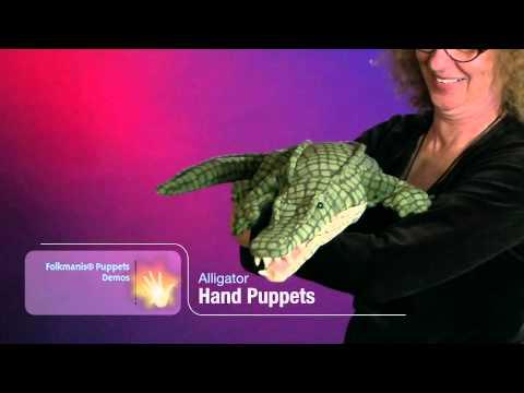 Folkmanis® Alligator Puppet Demo