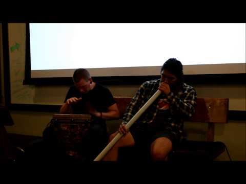 Paul and Gabe - PVC Didgeridoo and Drum Jam
