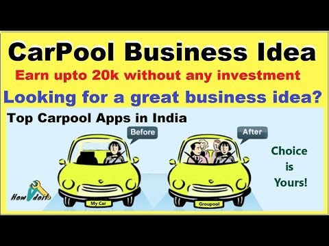 Car Pool Business Idea | Best Apps for Car Pooling Apps | Ola and Uber Ride Share - Carpool Karaoke