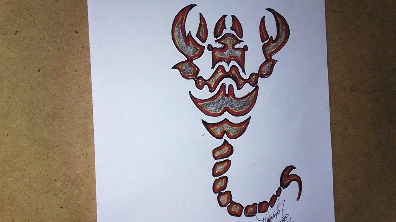 How To Draw A Scorpion For Tattoo Como Dibujar Un Escorpión Para