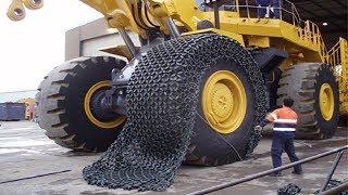 How to Install Chains on $60,000 Extreme Tyre to Counter Fire - Pewag Chains in Action