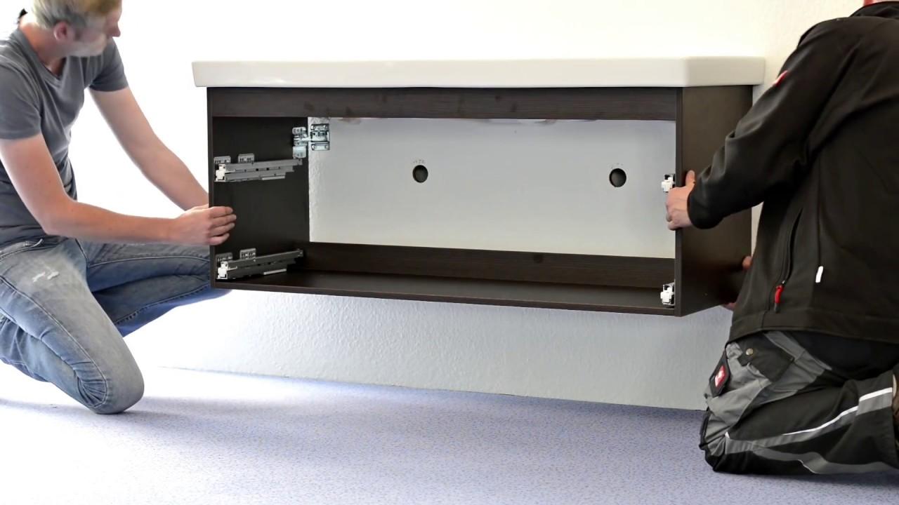 Fabulous Aufbau und Montage eines Architekt Waschtischunterschranks PQ12
