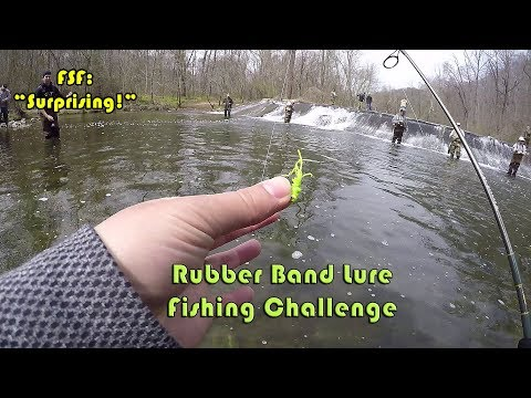 Rubber Band Fishing Lure Challenge (Surprising) - Trout Fishing