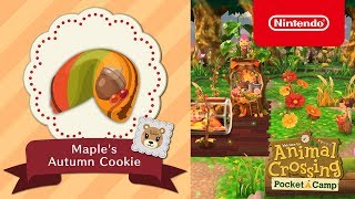 Animal Crossing: Pocket Camp - Maple's Autumn Cookie