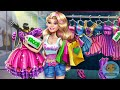 Barbie Realife Shopping - game video for kids and girls - 4jvideo