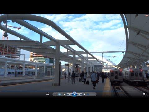 Train across USA: #9 California Zephyr sleeper class--Denver to high plains sunset 2016-05-11