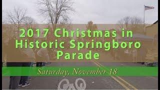 2017 Christmas in Springboro Parade