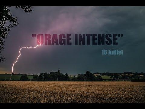 Orage Violent du 18 Juillet 2017 - Bretagne