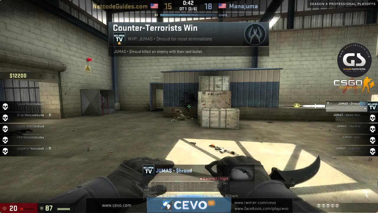 CS:GO - Shroud (Manajuma) INSANE 1 vs 5!! ACE