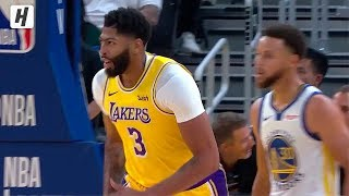 Anthony Davis First Points as a Laker! Destroying the Warriors with EPIC DUNKS!