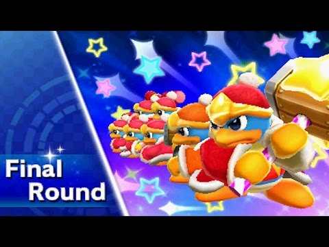 Kirby Triple Deluxe - Kirby Fighters Deluxe (Very Hard) Walkthrough Part 1 - Beetle Ability