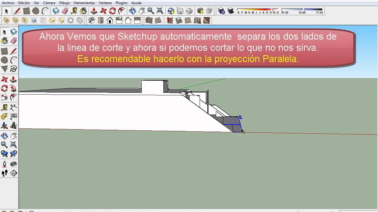 Tutorial como hacer cortes en sketchup renderizables for Azulejos para sketchup 8