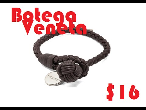 bracelet brown leather product bottega jewelry for espresso women in lyst woven double normal veneta
