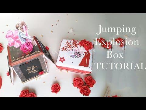 TUTORIAL -Valentine's day Love Explosion Box|Transformable Exploding Box|Jumping Explosion box|DIY