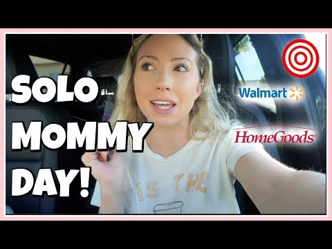 SOLO MOM DAY IN THE LIFE + HUGE HOME DECOR HAUL