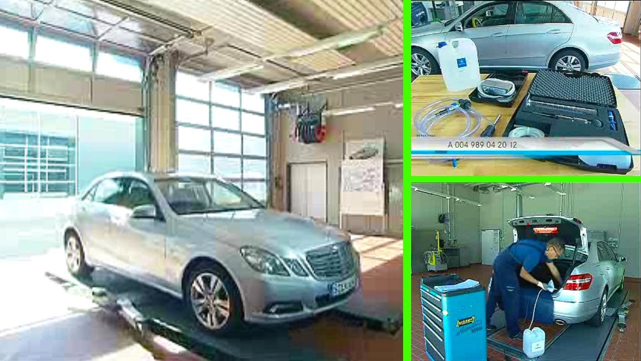 mercedes benz e class adblue refilling for ece vehicles part 2 youtube. Black Bedroom Furniture Sets. Home Design Ideas