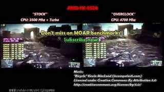 AMD FX-8320 | Stock vs @4.7 Ghz | OverClock Boost in Gaming | Split-screen Comparison