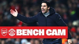 BENCH CAM | Arsenal 2-0 Manchester United | Arteta's first win as head coach