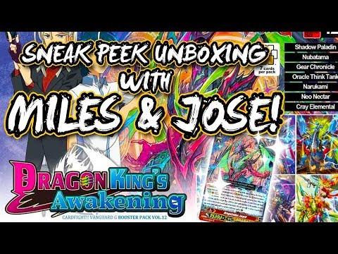 GBT-12 Sneak Peek Unboxing w/ Miles & Jose! Cardfight!! Vanguard G