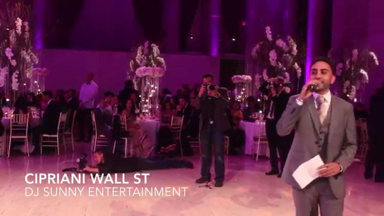 Dj Sunny Entertainment Cipriani Wall Street Nyc Indian Wedding Reception With Raj Minocha