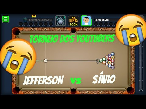 8 BALL POOL - FUI HUMILHADO (torneio dos youtubers)Jefferson x sávio !!!
