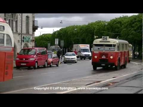 Vintage Buses and other vehicles on Parade in Stockholm