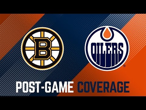 LIVE | Oilers Post-Game Interviews at Boston