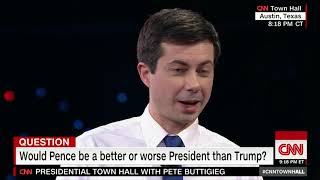 Pete Buttigieg calls Vice President Pence a 'cheerleader for the porn star presidency'