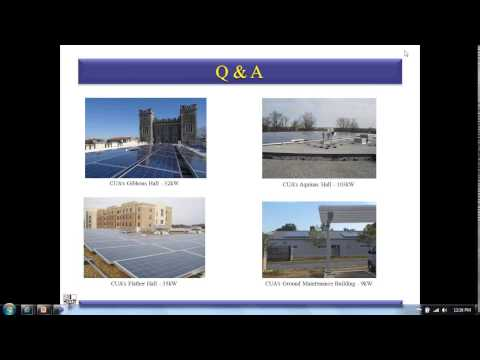 Standard Solar Webinar: Inside Our Solar Energy Experience W/Catholic University of America