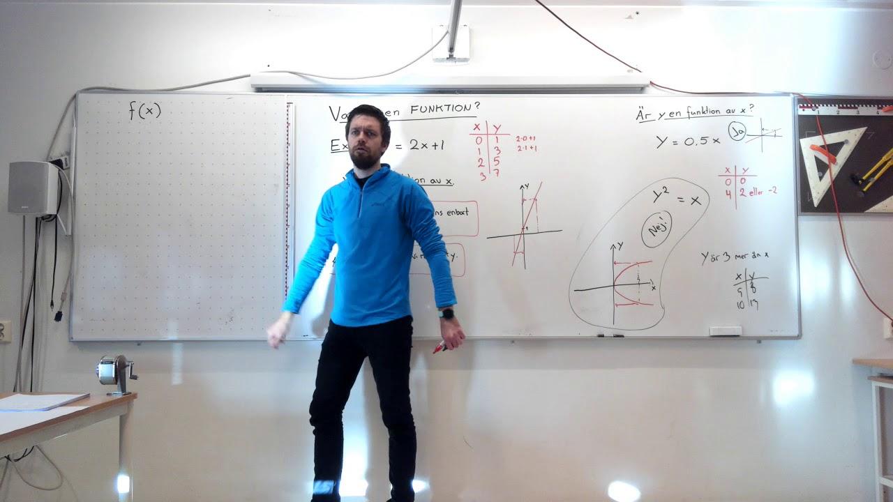 Matematik 1b, 5.2. Funktion och funktionsvärde. Vad är en funktion och vad är f(x) ?